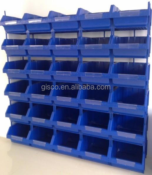 heavy duty plastic warehouse storage bins in pp material