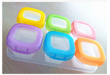 Baby Food Storage Container Baby Blocks Set