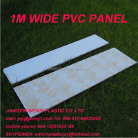1m/1meter wide pvc plastic bathroom wall panel