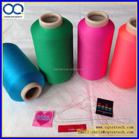 Top Quality Dyed DTY Twisted Weft Yarn for woven label with free sample