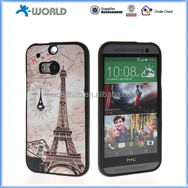 Colorful Rubberized Flexible TPU Cases Covers Skins Cover for HTC one M8