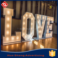 Outdoor Large Free Standing letter bulb sign Led Marquee Light