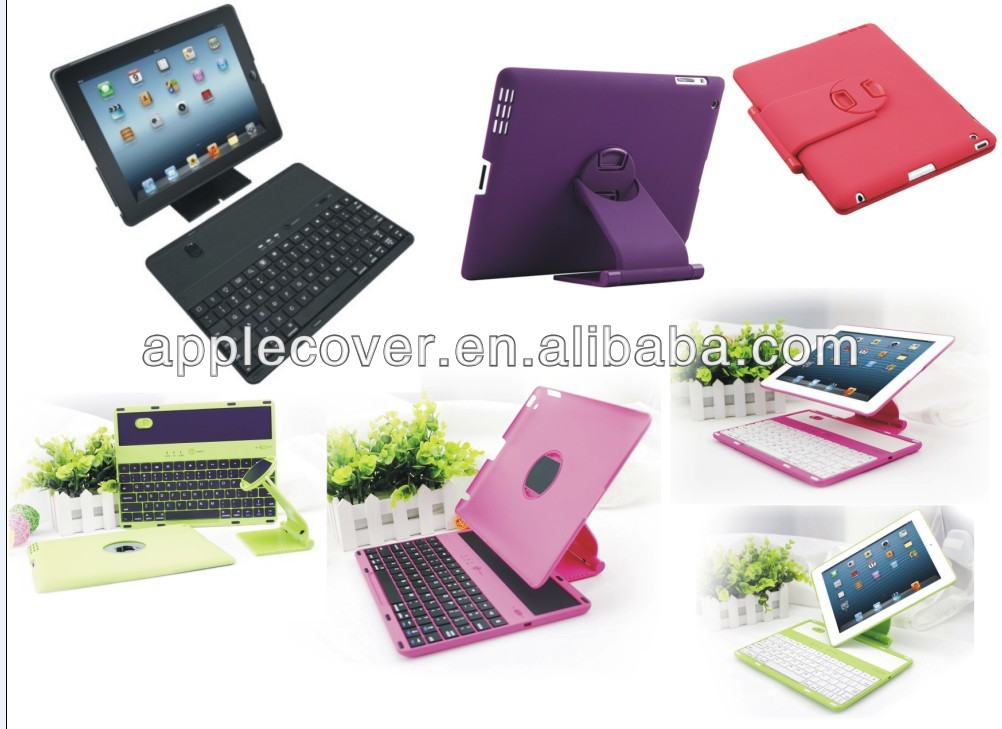 Rotating Bluetooth Keyboard Case for iPad 2/3/4