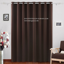 Wide Thermal Blackout Patio door Curtain Panel, Sliding door curtains Antique Bronze Grommet Top