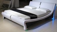 Modern design queen size PU/PVC leather bed frame