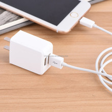 Slim White dual port USB Wall Charger 5V 2.4A Fast Charging For Sam sung iPhone