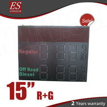 Outdoor waterproof LED gas price display double sides with p10 moving display