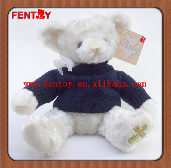 2017 beautiful t12inch standing plush eddy bear toy manufacturer