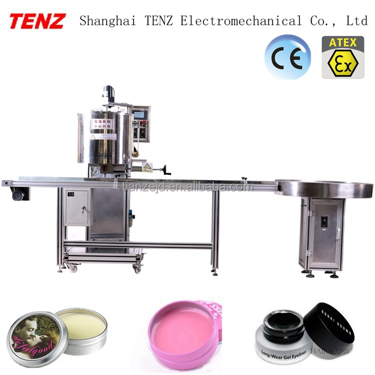 TENZ signle nozzle gear pump automatic lipstick filling cosmetic machine shanghai manufacturer