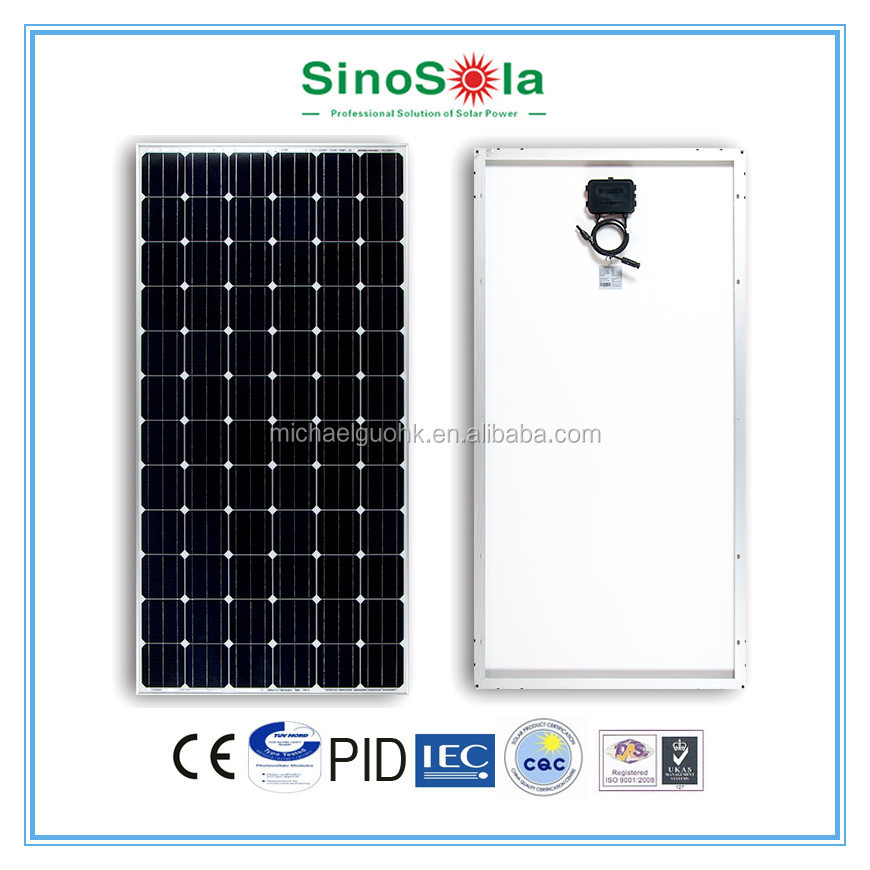 315W Mono Solar Panel With TUV/IEC/CE/CEC Certificates Made of A-grade High Efficiency Monocrystalline Silicon Cells