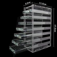 Eyelash Extension Organizer Box With 7 Pieces Crystal Glass Adhesive Glue Pallet Holder Storage For Lash Extension Display Case
