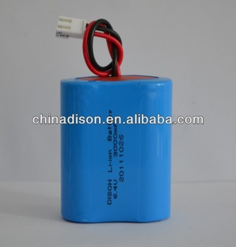 IFR26650 cylindrical 6.4v 3000mah LiFePo4 lithium ion battery pack used for Solar garden LED lamp