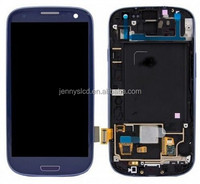 Mobile Phone lcd for S3 I9300 T999 LCD screen with digitizer assembly blue