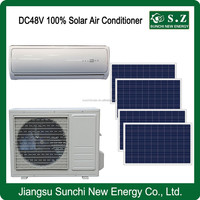 Off grid 100% hot sale DC48V split home solar power inverter air conditioner prices