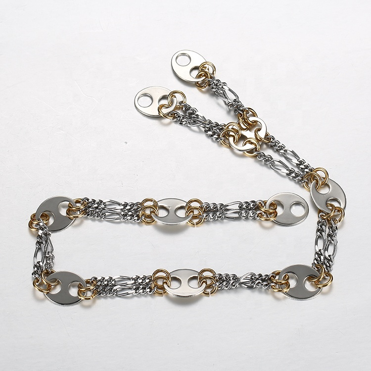 Clothing Decorative Design Jeans Copper Chain Metal Brass Chain For Handbag Shoes