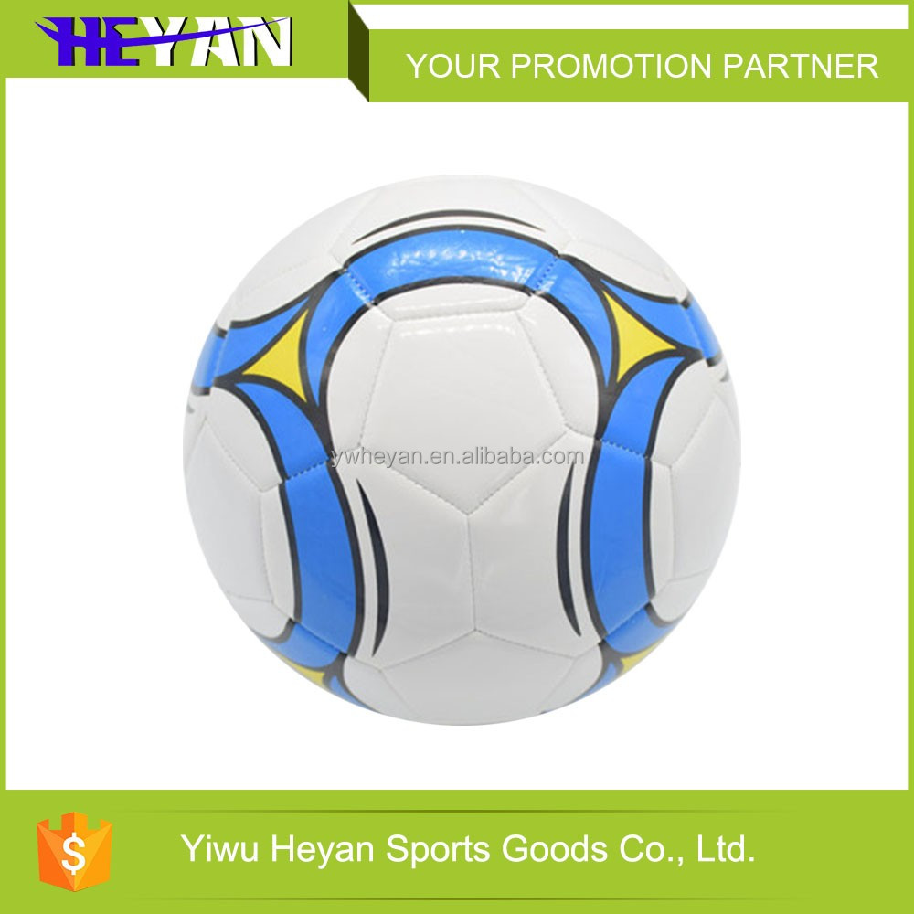 2016 New design low price machine sewn promotional soccer