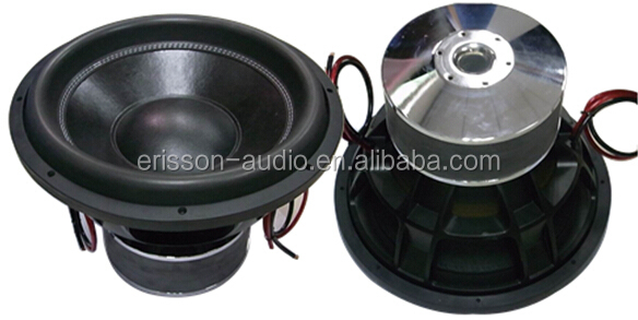 "Great power 2500w dual coil professional 15"" dj woofer"
