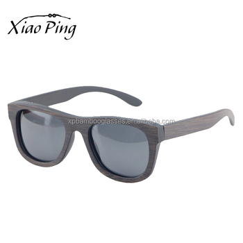 Vintage Matte Black Personalised 100% UV Protection Polarized Bamboo Sunglasses With Case