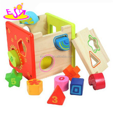 Education toy wooden block toy for kids,,popular children intelligent toy,high quality baby funny toy W11G005