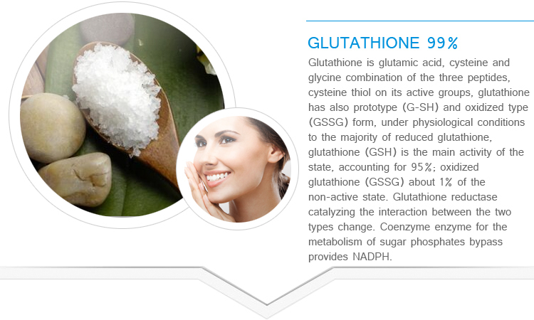 Natured glutathione powder in medicine grade, glutathione injection