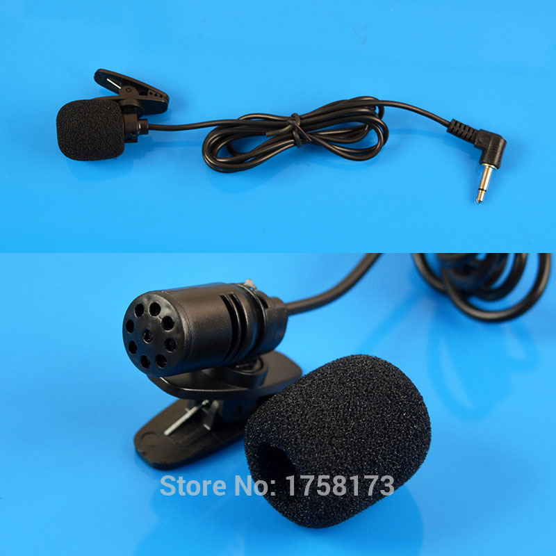 3.5mm L Jack Microphone Black Hands Collar Clip On Mini Lapel Mic For PC Notebook Laptop 105cm Cable