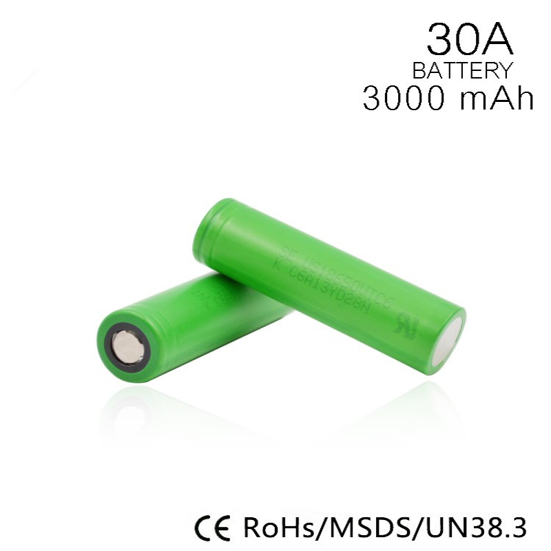 Hot-sale 18650 rechargeable battery VTC6 3000mah 30A 3.7v lithium ion battery for sony