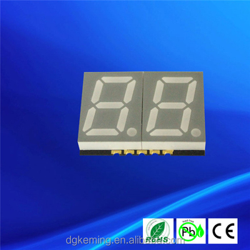 "0.56 inch dual digit white 7 segment SMD display 0.56"" 2 digits 7-segment smd display"