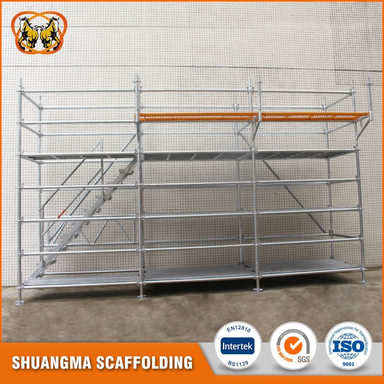 Customized size galvanized ringlock scaffold for sale