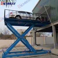 Scissor car lift for basement for sale