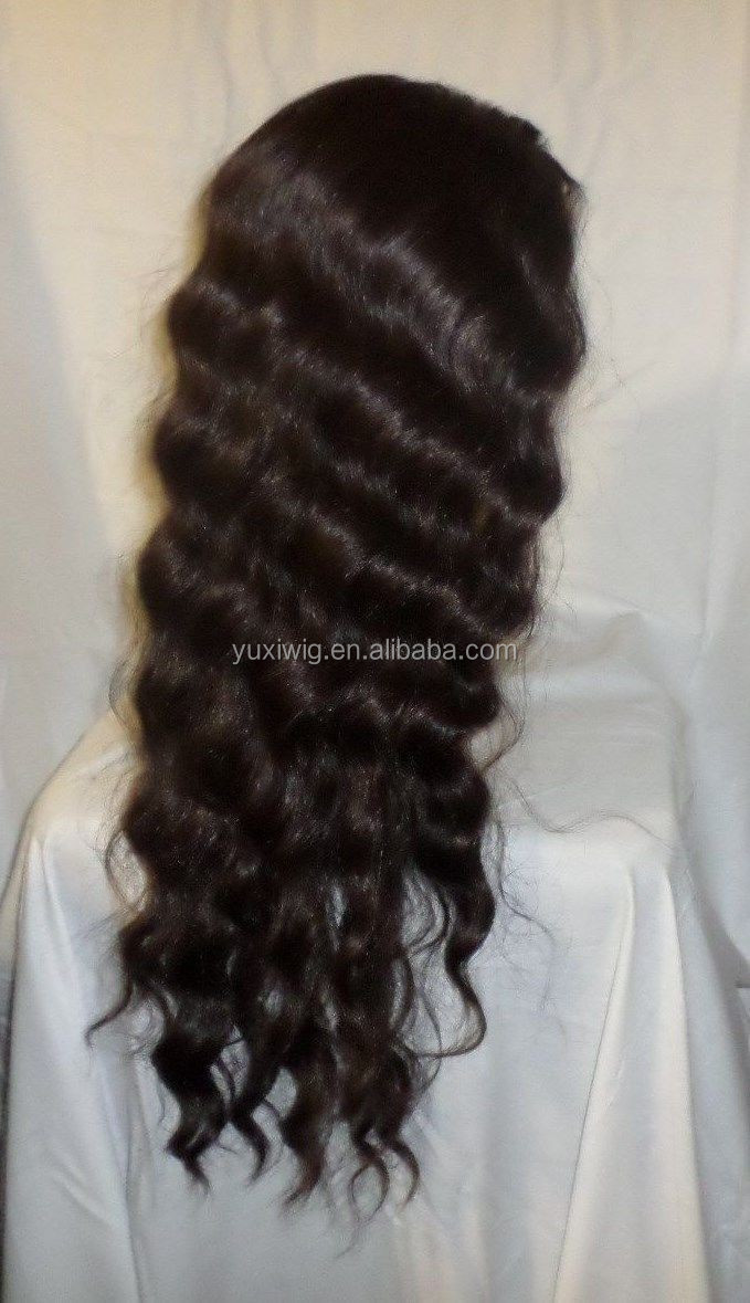 2016 New Long Body Wave Front Lace Wig Full Lace Wig