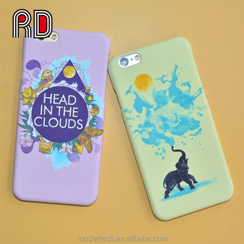 Birds Elephant Follwing The Sun Simple Pattern Colorful Print Hard Plastic Phone Case for IPhone 6 6s Plus