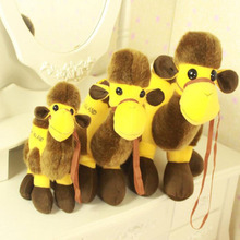 Anti Bcateriall and Anti Mite Fibers embroidery camel stuffed toys with yellow