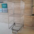 Wire Mesh Cargo Storage Roll Cage for transporting in mall