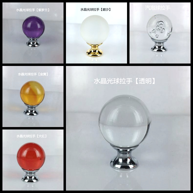 New coming super quality crystal ball knob wholesale