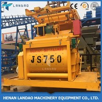 Industrial continuous horizontal portable electric concrete mixer prices