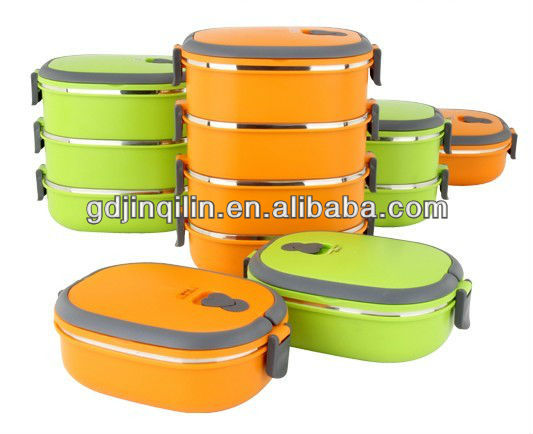 hot selling plastic color housing steel heated lunch box for home use