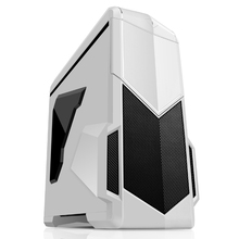 SAMA vertical micro atx computer case white with dust filter