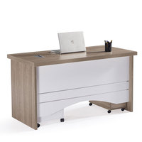 Simple new design mdf wooden modern l-type secretary office table