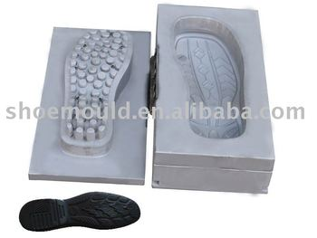 Fashion Man PU sole mould of three parts for Italian Shoe Sole Moulding machine, PU shoe sole mould