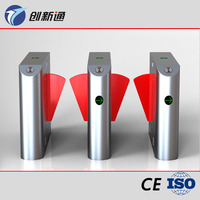 Full automatic RFID Flap barrier gate supporting face recognition time attendance system
