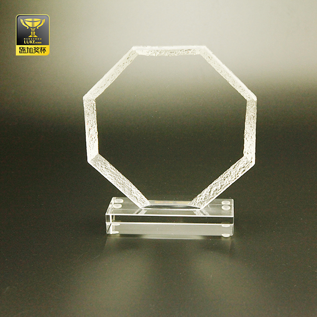 crystal color award and trophy stand business glass plaques