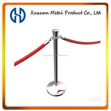 Mirror Finished Queue Stand with 1.5m Red Velvet Rope