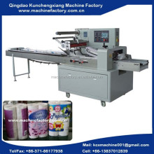 Automatic toilet paper wrapping machine for 2/4/6 rolls