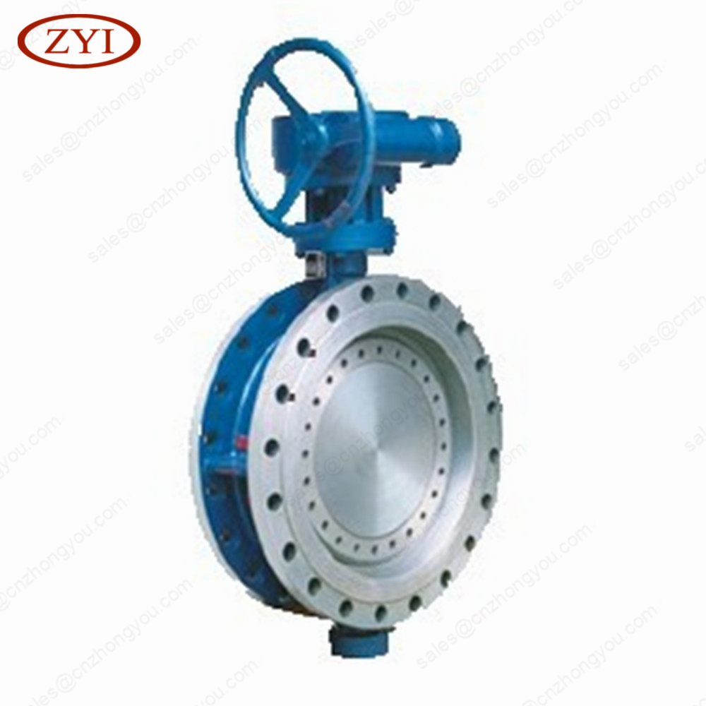 Top Quality Triple Offset Double Flange Stainless Steel wafer type butterfly valve