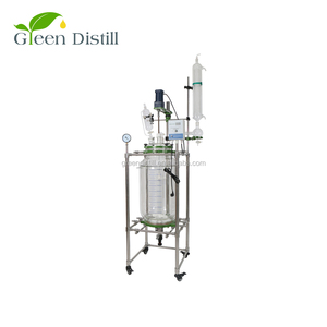 100l industrial chemical batch jacketed glass reactor for sale