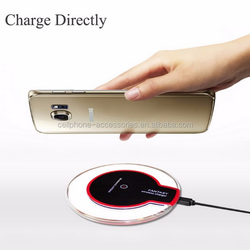 Mobile phone accessories manufacturer qi wireless charger 5V 2A for iPhone 7 Samsung galaxy S6 S7 edge plus