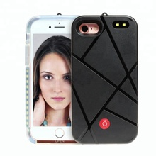 Popular shockproof led light phone case for iphone mobile back cover luxury