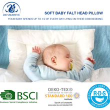 Hypoallergenic Baby Flat Head Soft Protective Pillow Baby Pillow for Newborn, Kids