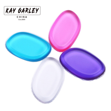 Colorful makeup blending silicone puff for foundation liquid powder bb cream smooth flawless beauty face cosmetic jelly tool