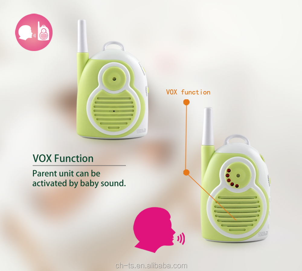 professional smart home security small audio monitor baby phone sound alarm monitor